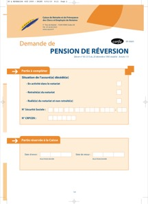 CERFA 12283-03 : Demande de pension de réversion des professions du Notariat