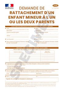 Cerfa 14445 02 Demande De Rattachement Dun Enfant Mineur