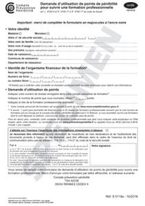 9e4ed17c441 CERFA 15519-02   Demande d utilisation de points de pénibilité pour suivre  une