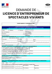 f43d8eb9482 CERFA 11781-07   Formulaire de demande de licence d entrepreneur de  spectacles vivants