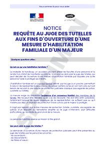 Cerfa 52129 01 Notice Pour La Requete Au Juge Des Tutelles Aux