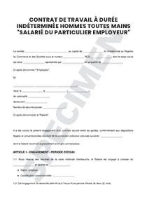 0ff5796318f Contrat de travail à durée indéterminée hommes toutes mains