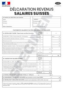 Formulaire 2047 Suisse Annexe Revenus De 2016 Salaires Suisses