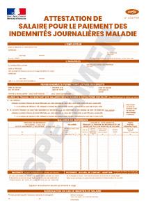Cerfa 11135 04 Attestation De Salaire Pour Le Paiement Des