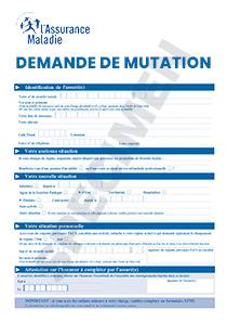 Formulaire Cpam Demande De Mutation De Regime D Affiliation Startdoc