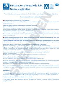 RSA TÉLÉCHARGER FORMULAIRE TRIMESTRIELLE DECLARATION