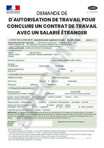 Cerfa 15187 01 Demande D Autorisation De Travail Pour Conclure Un