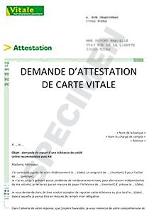 attestation carte vitale cpam Demande d'attestation de carte VITALE | Startdoc