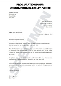 Lettre de procuration pour un compromis Achat-Vente | Startdoc