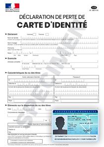 declaration perte carte d identité CERFA 14011 01 : Déclaration de Perte ou Vol Carte d'identité