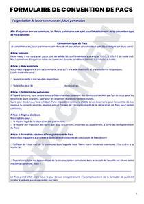 Convention type de PACS - CERFA Officiel 15726-02   Startdoc
