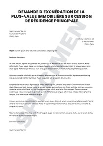 Demande D Exoneration De La Plus Value Immobiliere Sur Cession De